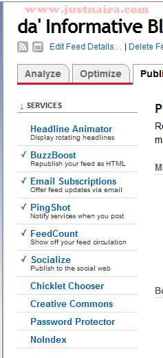 select services under feed