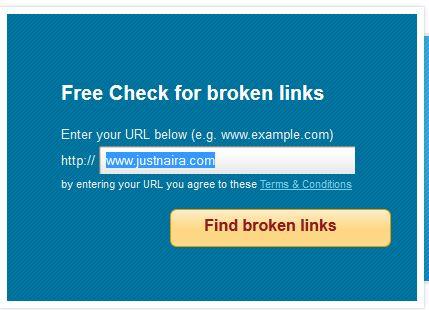 online broken links checker