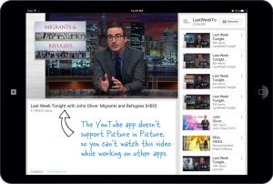 YouTube and iOS 9's Picture in Picture