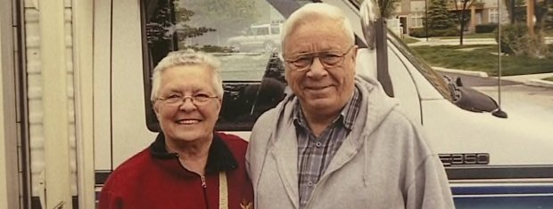 Peggy with her late husband