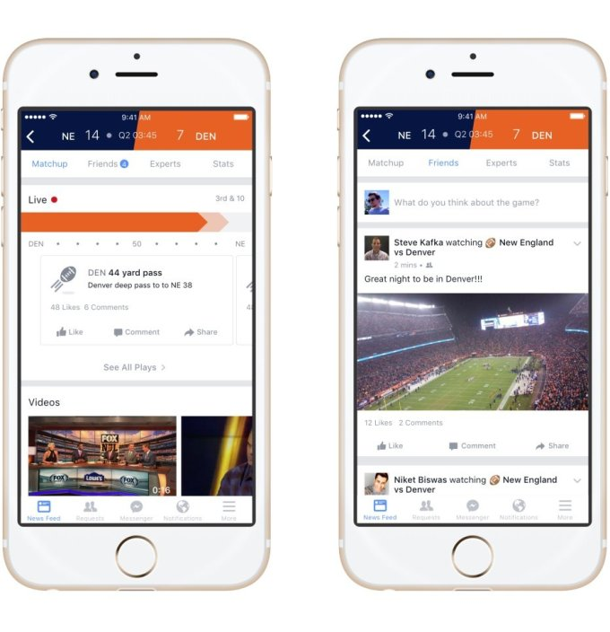 Facebook launches Sports Stadium hub for you to chat about the big game