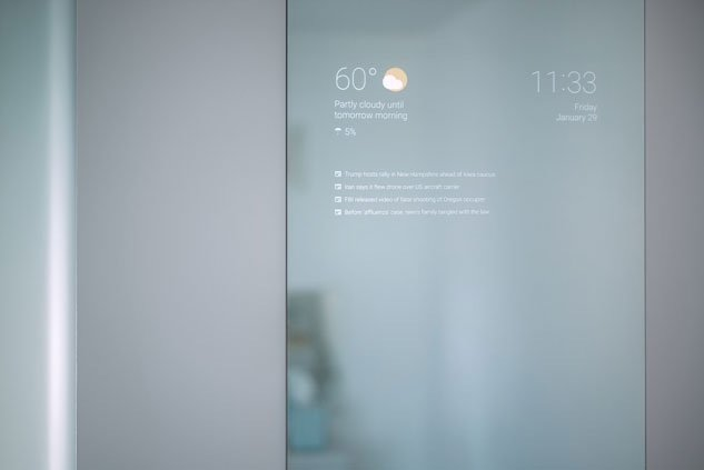 Google Engineer Builds Android-Powered, Google Now-Capable Smart Mirror For His Bathroom
