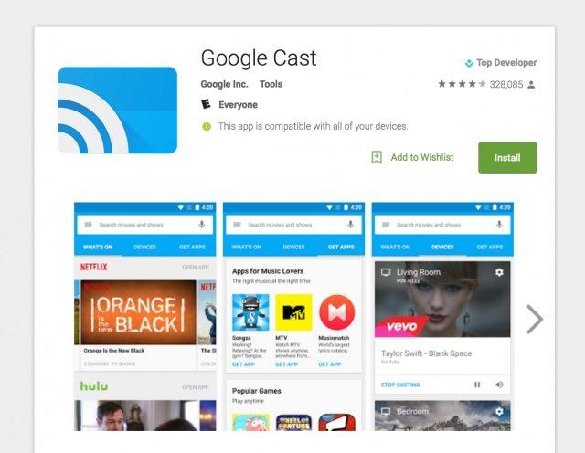 Chromecast App now renamed as Google Cast officially
