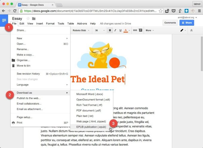 How You Can Use Google Docs To Create eBooks