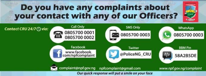 COMPLAINT RESPONSE UNIT Nigeria Police Force