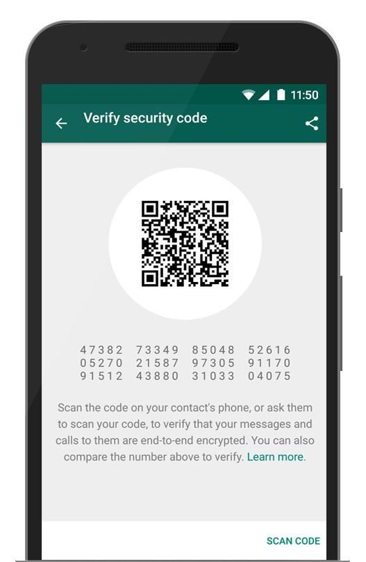 No one else can read your WhatsApp chat as WhatsApp gets end-to-end encryption.