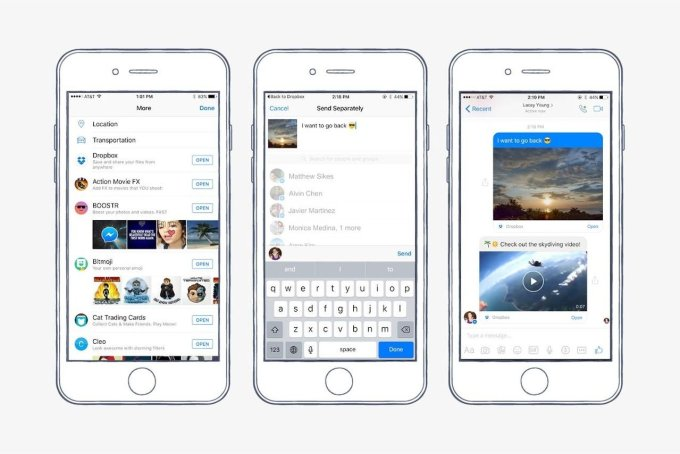 Facebook Messenger now has the ability to send and preview Dropbox files