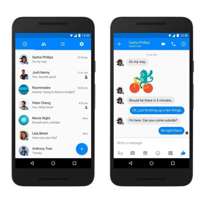 Facebook Messenger for Android gets more handsome: now supports SMS