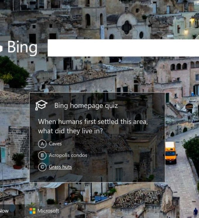 Bing to officially dish daily quizzes on its home page for everyone