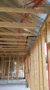 New build construction: no crawling in the attic to run electrical wires and home runs.