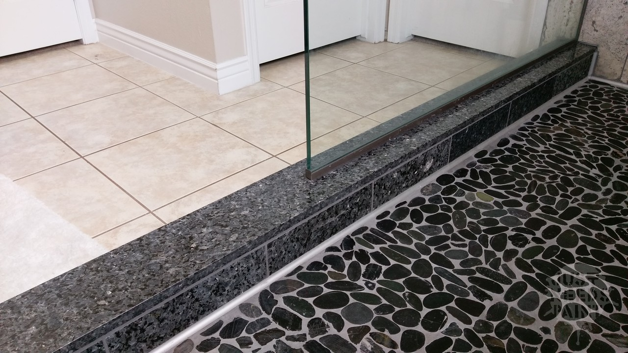Is Flat Pebble Mosaic On The Shower Floor A Good Idea Consider This Just Needs Paint