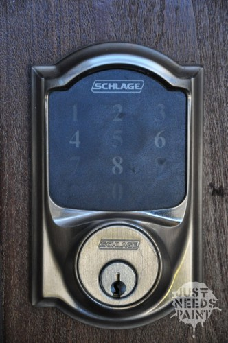 Automatically moved tumbler example: Schlage Smart Connect Deadbolt