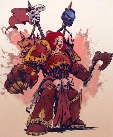 principesse disney in warhammer 40k