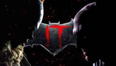 it pennywise batman face off
