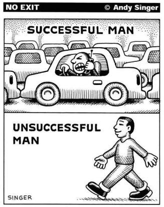 06-26-2015_1 car post_No Exit Andy Singer Succesful man