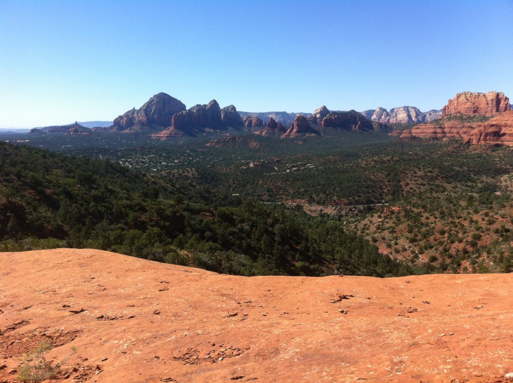 A view of Sedona from Submarine Rock