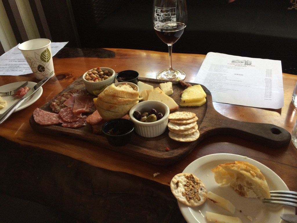 Food at the winery
