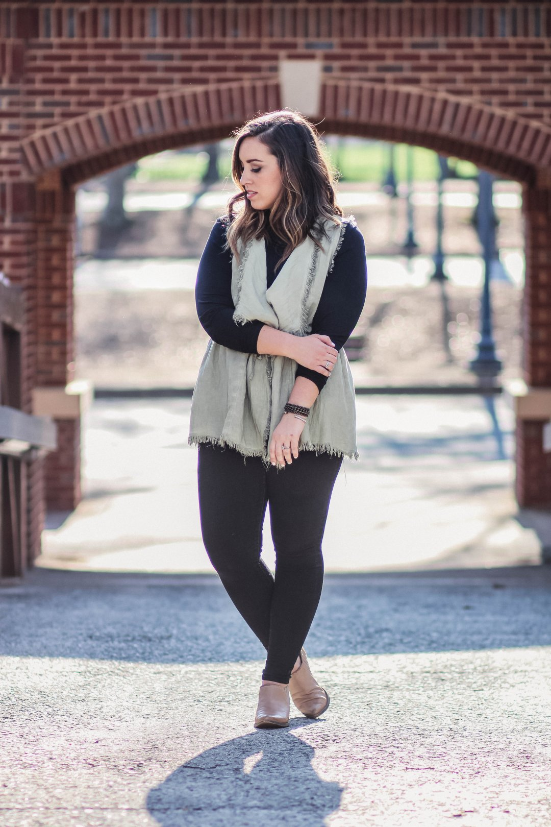 Boho Destroyed Vest | Just Peachy Blog