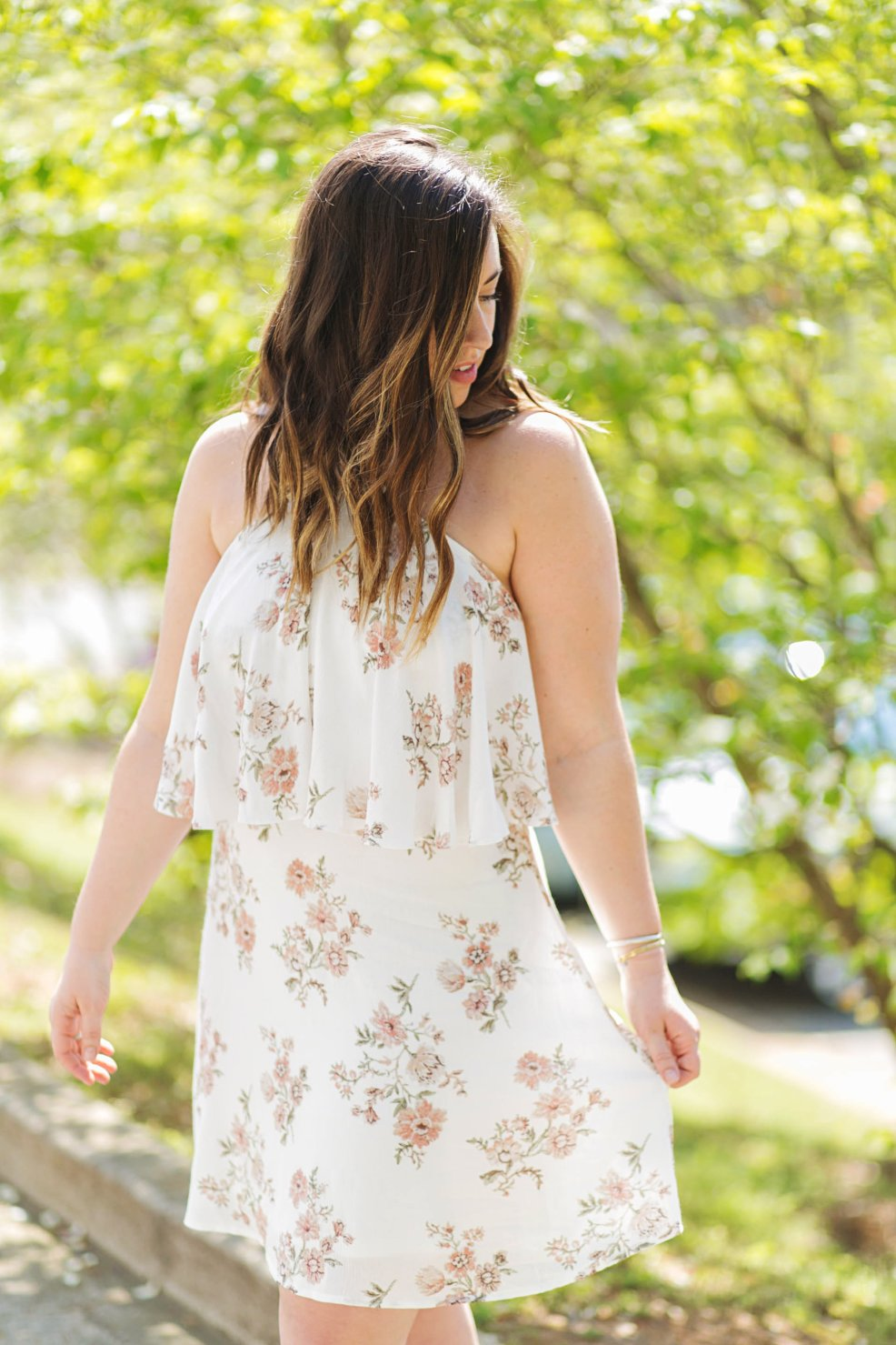 Floral Spring Dress | Just Peachy Blog