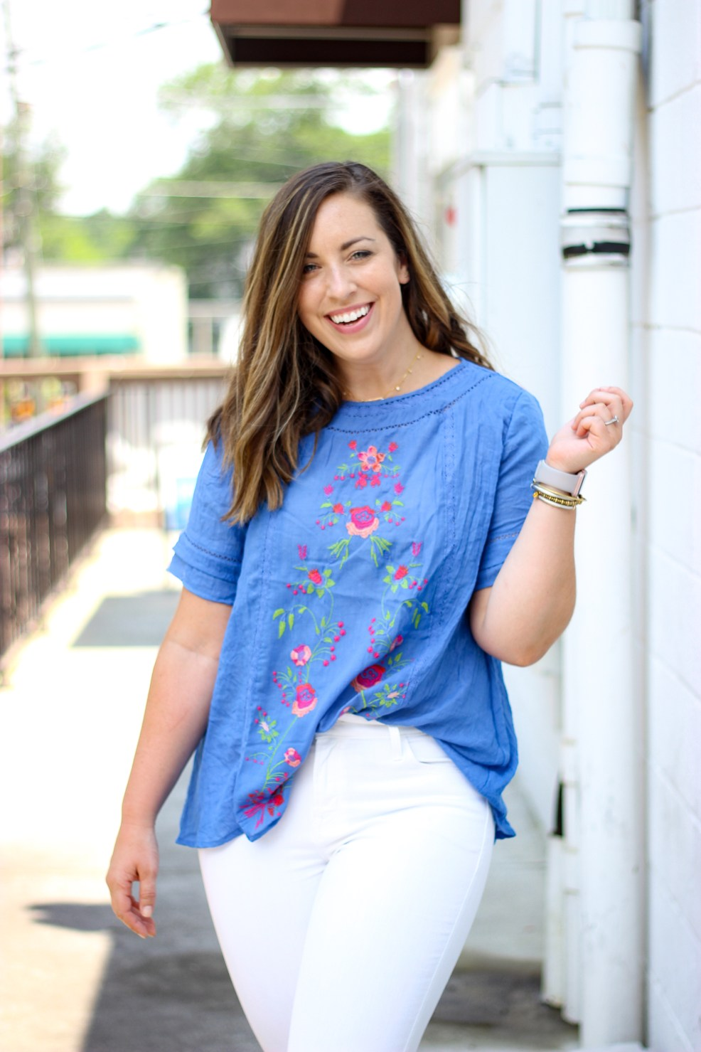 Embroidered Summer Top | Just Peachy Blog