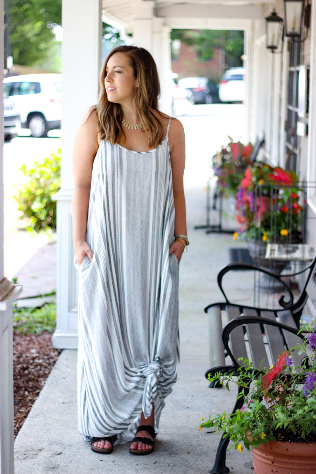 Knotted Maxi Dress | Just Peachy Blog
