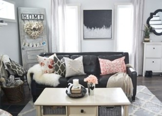pink and gray decor