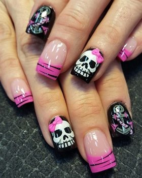 35-halloween-nail-art-design - Just Pink About It