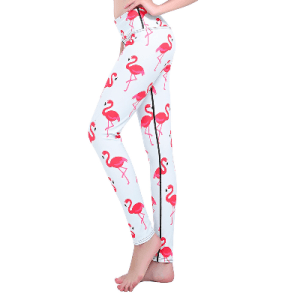 Women's Pink Flamingo Print Leggings