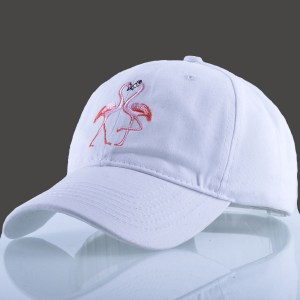 Women's Flamingo Embroidery Pattern Baseball Cap