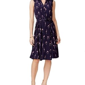Charter Club Women's Flamingo Print Shirtdress