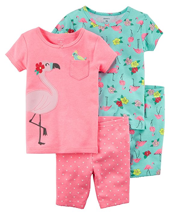 Carter's Girls' 4-Piece Summer Snug Fit Cotton Pajamas