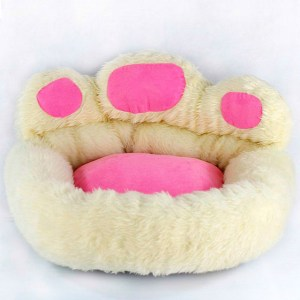 Pink Paw Shape Luxury Pet Bed