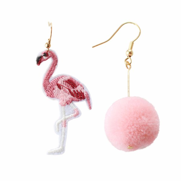 Women's Flamingo Asymmetric Dangle Earrings