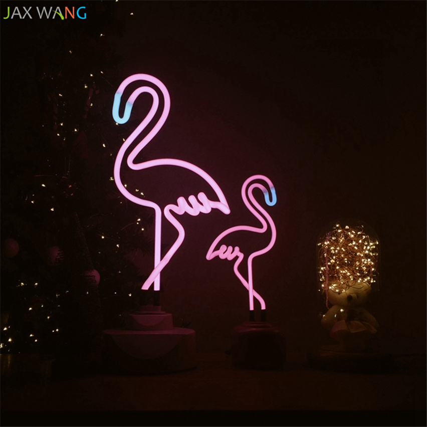 Pink Flamingo Neon Table Night Lamp Lights Just Pink About It