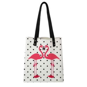 Women's Pink Flamingo Print Casual Tote Bag