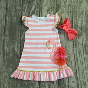 Girls Summer Flamingo Design Dress