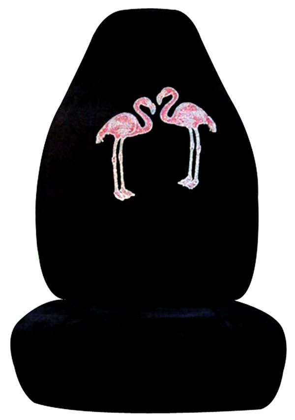 2-Piece Flamingo Rhinestone Front Seat Covers