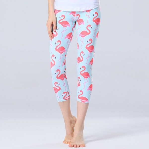 Women's Cute Flamingo Print Capri Leggings