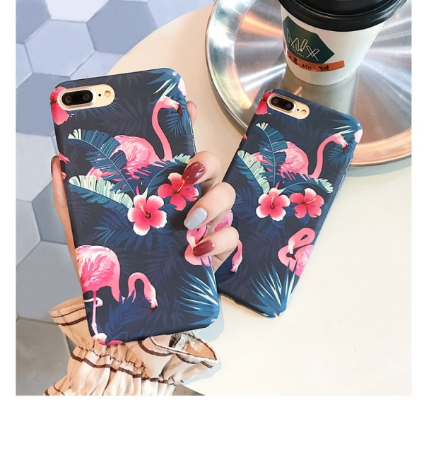 Pink Flamingo Design iPhone Case
