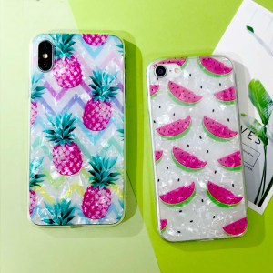 Pink Watermelon Pineapple iPhone Cases