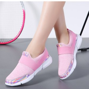 Women's Pink Breathable Mesh Fashion Sneakers
