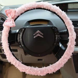 Pink Lace Car Interior Decoration Accessories