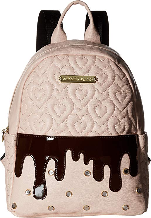 Betsey Johnson Women's Pink Strawberry Backpack