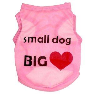 Small Dog Big Heart Pink Pet Shirt