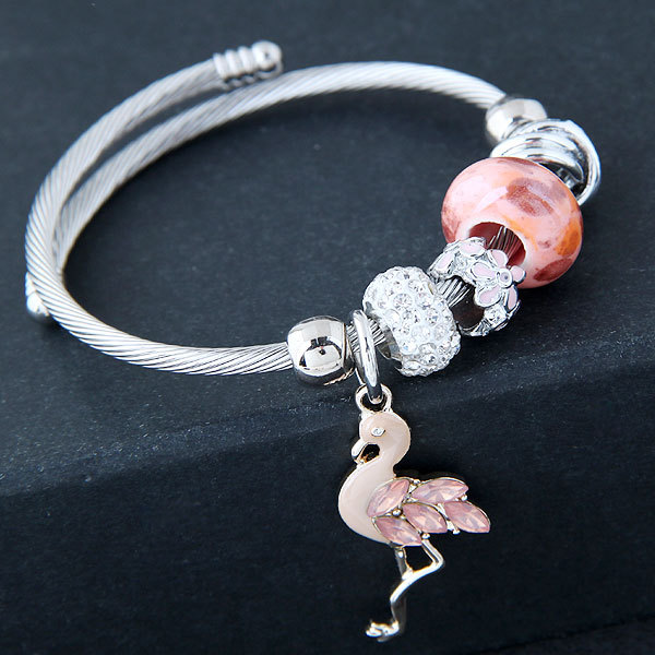 Women's Flamingo Charm Fashion Bracelet