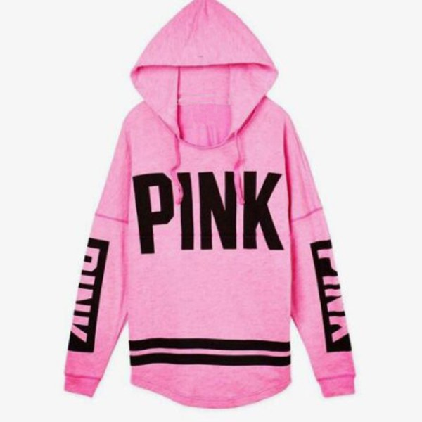 Women's Pink Letter Autumn Hoodie