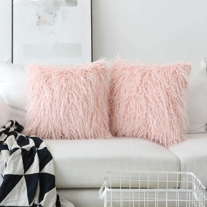 Decorative Faux Fur Sham Throw Pillow Covers