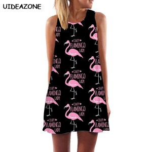 Women's Crazy Flamingo Lady Chiffon Dress