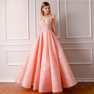 Women's Elegant Pink Homecoming Prom Gown