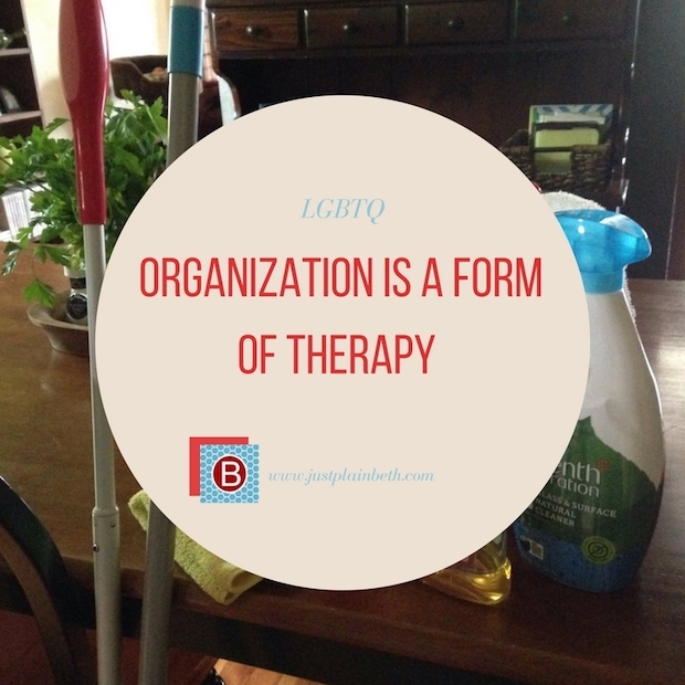 Organization is a Form of Therapy, and It's Cheaper.
